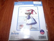"""Janlynn AT THE BEACH Counted Cross Stitch Kit 5"""" x 7"""""""