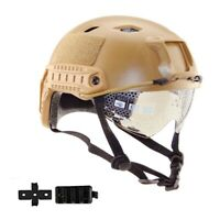 Military Tactical Helm Airsoft Paintball SWAT Protective Fast Helmet W/ Goggle