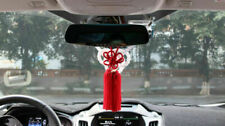 A Set New VIP Car Charm JDM Fusa Red Kiku JP Knot & White Kin Tsuna Rope