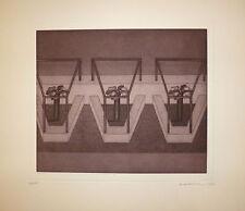 Waldenburg Hermann gravure originale 1973 Signée abstraction art abstrait