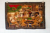 Vintage Rare Dogs Playing cards Hanging Wall Tapestry Art Decor Bar poker