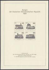 """DDR 2910-2913 S (*) Schwarzdruck """"Burgen der DDR 1984"""""""