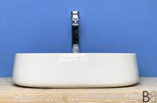 Lavabo appoggio rettangolare cm 60x40 Made in Italy bordo sottile moderno