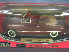 Mira 1949 Ford Convertible - 1/18 Scale Maroon