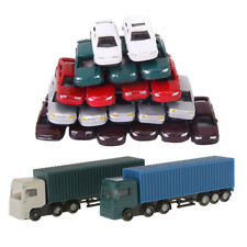52Pcs Container Truck Construction Vehicle Cars Model Figure 1:150 N Scale