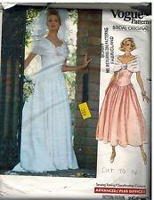2425 Vintage Vogue Sewing Pattern Misses Wedding Dress Petticoat Bridal Gown OOP