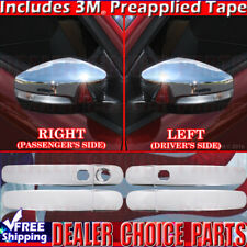 2013-2016 Ford C-MAX Chrome Door Handle Covers WSmrtKeyHole + Mirror WTurnSignal