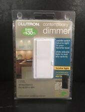 Lutron Diva Dimmer for Incadescent/Halogen w/ Wallplate Single-Pole #DV-600PH-WH