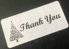 Christmas Tree Thank You Stickers Labels Seals Envelope Packaging Shipping 100