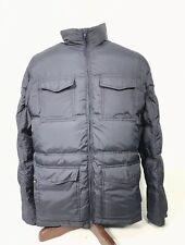 Quicksilver Men's Puffer down plaid Lined Jacket Mens Size Large Coat Black