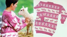 Christmas Jumper Knitting Pattern Copy To Make Fair Isle Reindeer Sweater Nordic