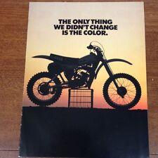 YAMAHA 1980 YZ125G  YZ 80 100 250 465 G ORIGINAL BROCHURE VINTAGE MOTOCROSS VMX