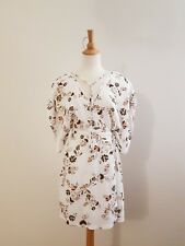 MINKPINK Women's White Floral Wrap Dress Size 8 GUC