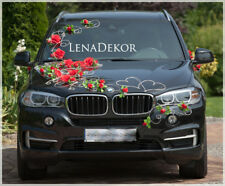 POLA RED wedding car decoration, ribbon, bows,prom limousine decoration slub