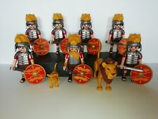PLAYMOBIL - 6 ROMAN LION SOLDIERS 1 ROMAN TRIBUNE AND 2 LIONS WITH ACCESSORIES