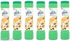 6x Glade Shake n' Vac Carpet Freshener Fragrance Powder 500g  Magnolia & Vanilla