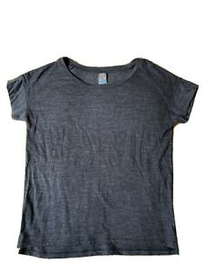 Icebreaker Cool Lite Merino Grey T Shirt Womens XS 8