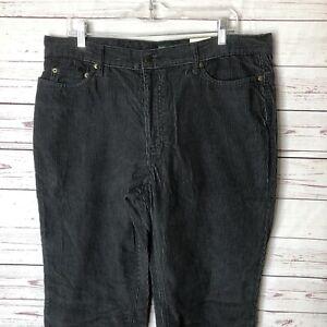 Outdoor Life Gray Corduroy Pants Mens 36x30 NWT $50 100% Cotton Casual Slacks