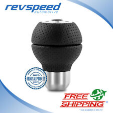 MOMO Race Airleather Black Leather Aluminium Shift Knob Genuine RACAIR