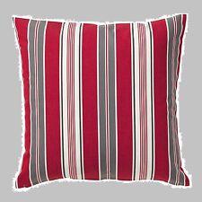 "IKEA""Vinter 2016""Pillow Red Gray White Stripe Cushion COVER 20""MultiDiscShp NEW"
