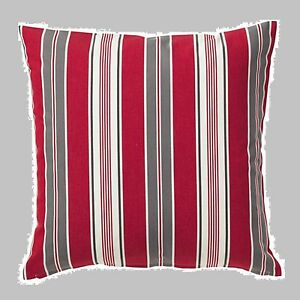 "IKEA 20""Vinter 2016""Pillow Red Gray White Stripe COVER (DiscountCombShip)Cushion"