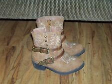 Faded Glory Toddler Girl Brown Size 8 Cowboy Boots
