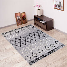 New Beautiful Rugs For Living Room - Different Sizes - Striped Pattern - Gray