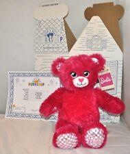 """Build A Bear Barbie Teddy Bear Plush Pink Sparkle 16"""" BAB NEW"""