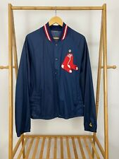 VTG Red Sox MLB Patch Dugout Gamewarmer Majestic Windbreaker Jacket Size L