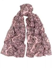Marni Women's Pink with floral Black print Scarf , Brand New, Not Worn