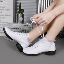 Women Fashion Lace Up Jazz Square Dance Shoes Wear-resisting Athletic Sneakers