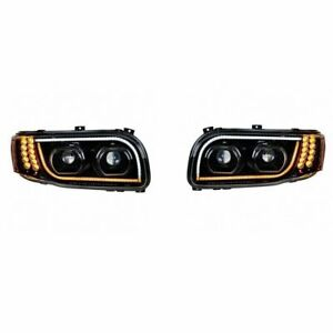 peterbilt 389 388 567 led headlight kit driving light turn signal high low beam