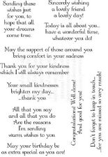 Lindsay Mason Designs A6 Clear STAMPS Thoughtful Messages PICSA6442