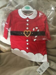 """Girl Dress Xmas Outfit 0-3 Month Baby Size Or 20"""" to 24"""" Reborn Doll Clothes"""