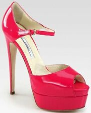 Brian Atwood Tribeca Pump Hot Pink Patent Leather Gorgeous 36.5
