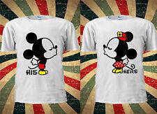Disney Kissing Mickey Minnie Mouse Cute Couple Romantic BF T-shirt Top Men Women