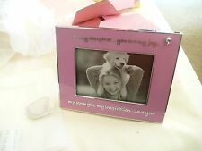 vtg things rembered 3 x 4 picture frame Daugter pink & silver border in box