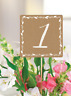 Rustic Wedding Table Numbers 1-20 Card Mrs Bride To Be Centrepiece Kraft Shabby