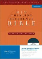 NIV Thinline Reference Bible by Zondervan , Leather Bound