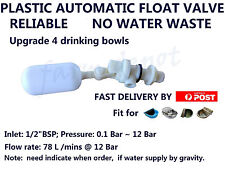 PLASTIC AUTOMATIC FLOAT VALVE  FOR WATER TROUGH DRINKING BOWL 4 HORSE DOG CATTLE