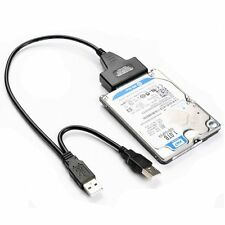 "Hard Disk Drive 7+15 Pin SATA to USB 2.0 Adapter Cable 2.5"" inch HDD Laptop"