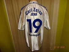 Fc Carl Zeiss Jena adidas u19 matchworn camiseta 2000/01 + nº 19 Hempel talla L-XL
