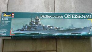 Revell 1/570 battle crusier gneisenau