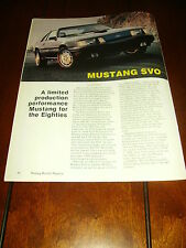 1984 FORD MUSTANG SVO ***ORIGINAL ARTICLE***