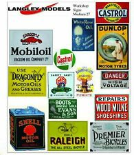 More details for workshop ads small paper copy enamel signs smf28n colour oo scale models decals