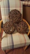10 inch wicker ball decor, home accents wicker/rattan home decor