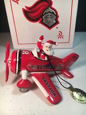 Rutgers University 2010 Danbury Mint Christmas Ornament Victory Plane Mib