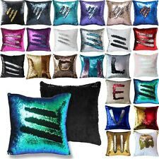 Magic Square Reversible Mermaid Sequin Cushion Cover Glitter Throw Pillow Case