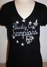 LA Kings GIII 4Her Women's Stanley Cup Champions T-Shirt - Black