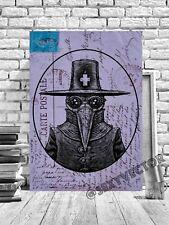 Plague Doctor Gótico Vintage Postal Enmarcado Arte Imagen Lienzo Trabajo #295